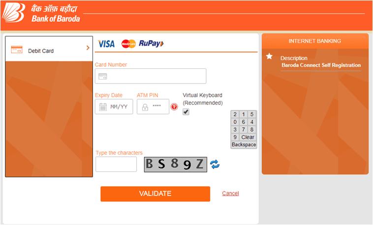 Bank of Baroda Net Banking