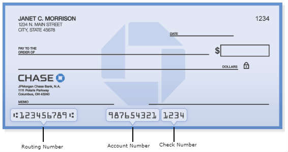 chase Bank Routing Number