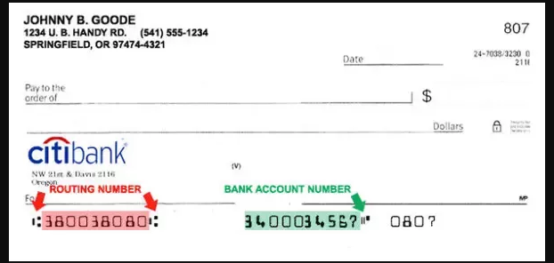 Citibank Transaction Routing Number