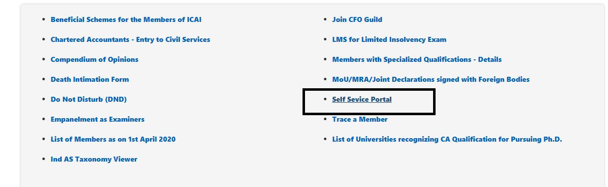 Create A New Login ID in SSP Portal of ICAI