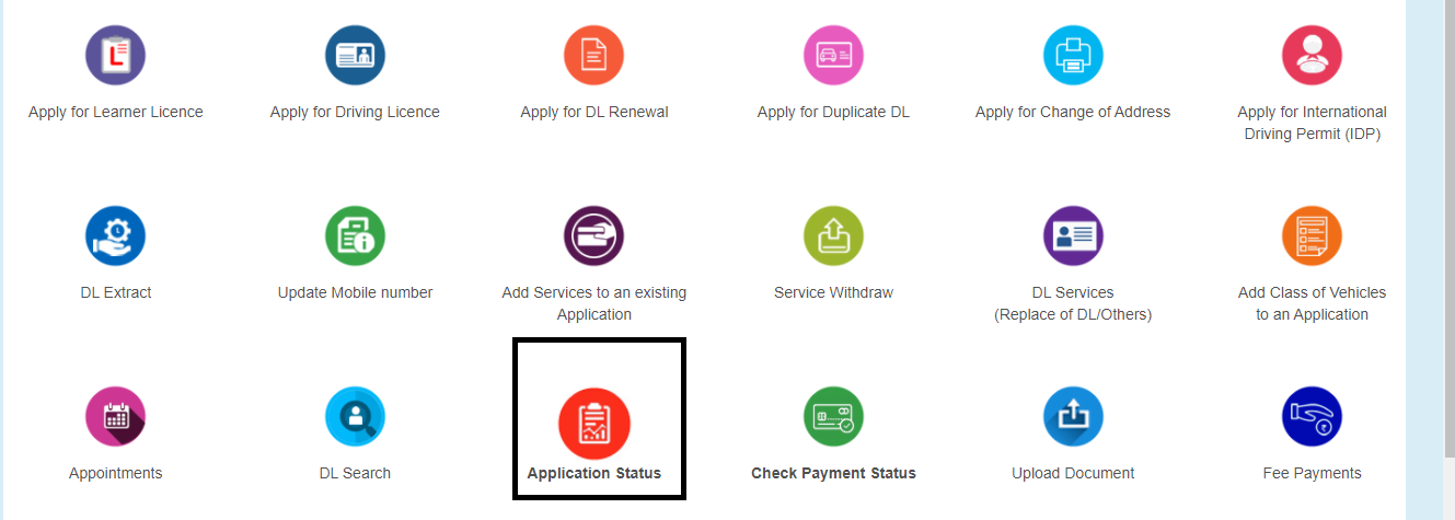 Check The Vahan Application Status