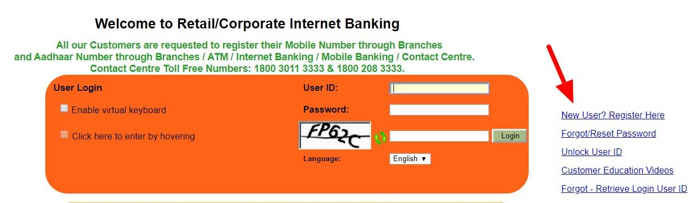 Syndicate Bank Internet Banking register