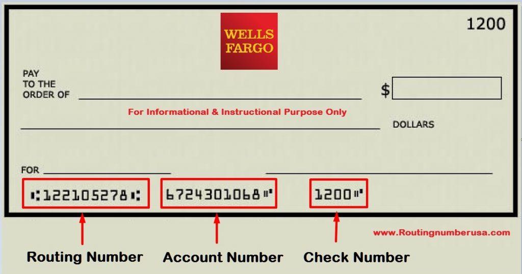 Wells Fargo Routing Number