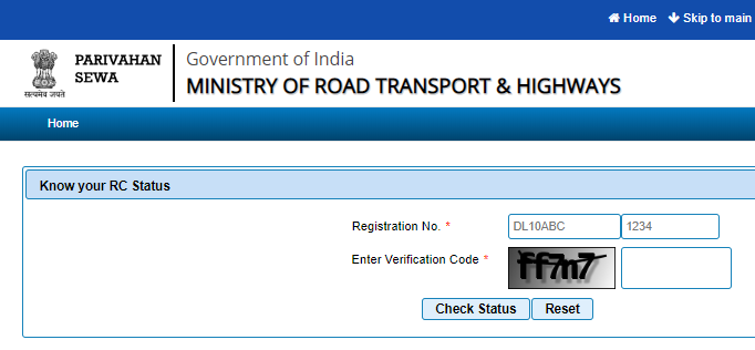 How to check your RC status online ?
