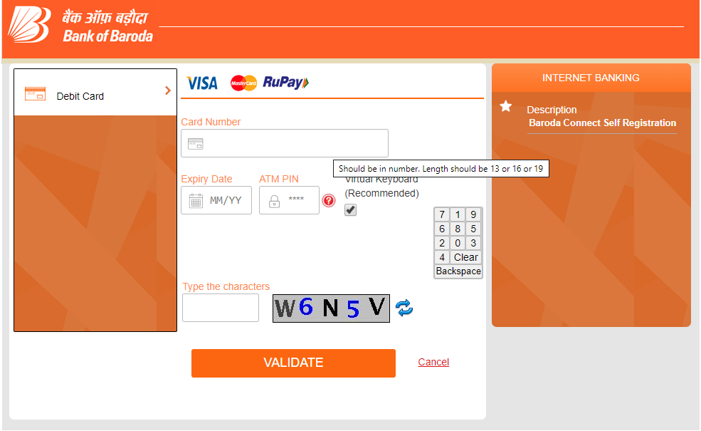 How to register and login to BOB Internet Banking