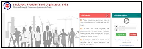 How to Login EPFO Member Portal