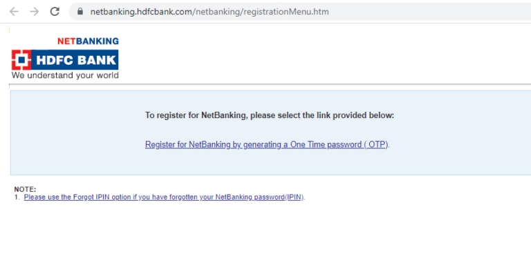 HDFC NETBANKING