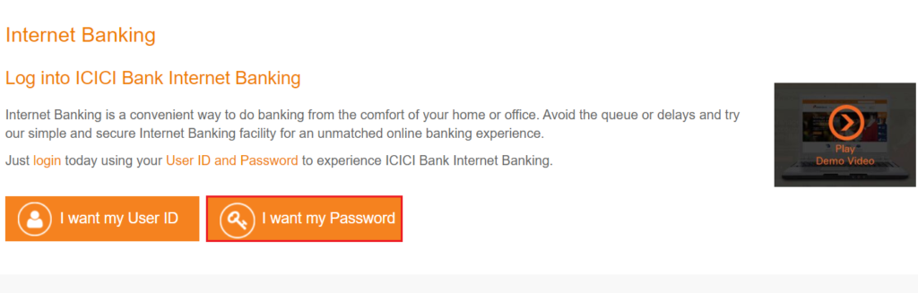 How to use ICICI Net Banking