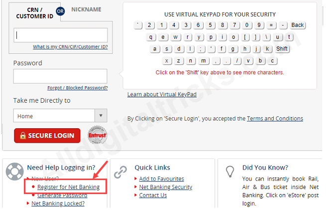 How to register and login to Kotak Internet Banking